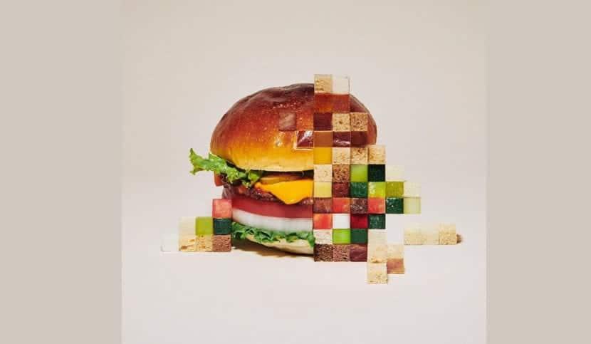 Burger pixeles