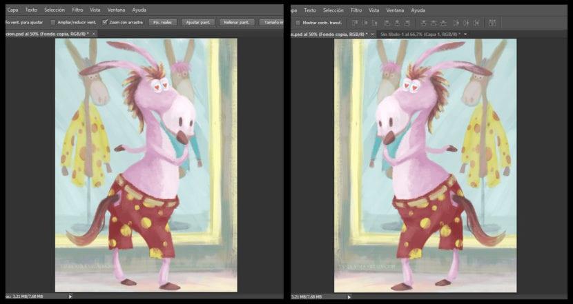 Voltear horizontal en Adobe Photoshop
