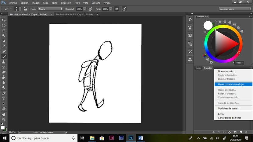 Paso 2. Dibujo.
