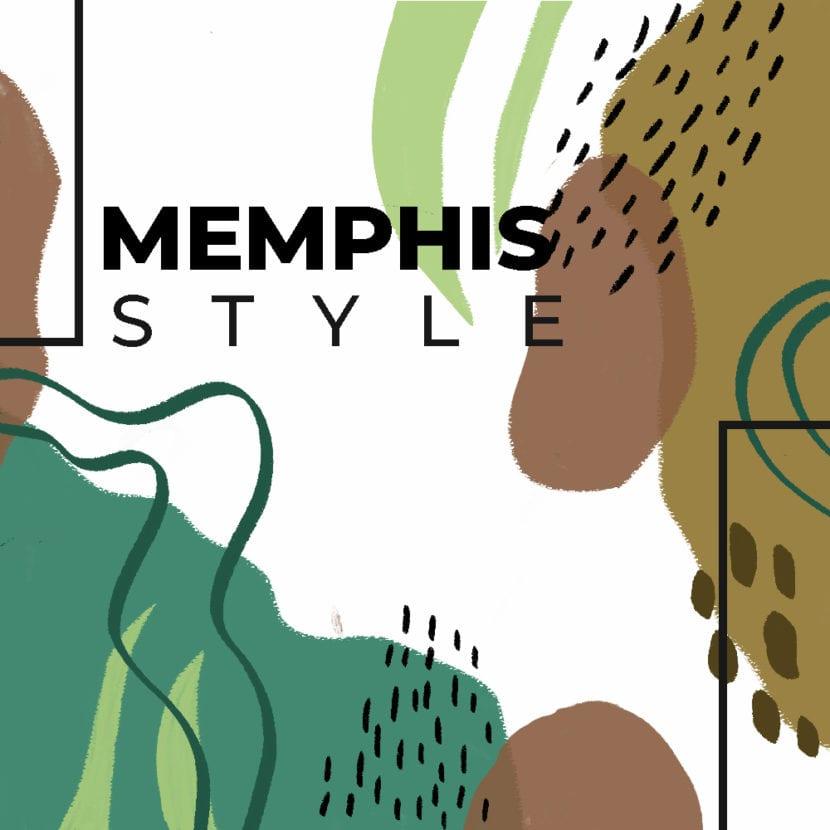 Diseño Memphis fondo blanco