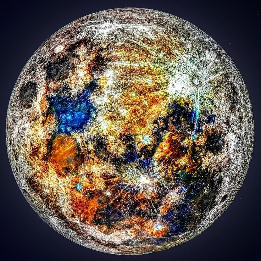 Mapa geología de la luna