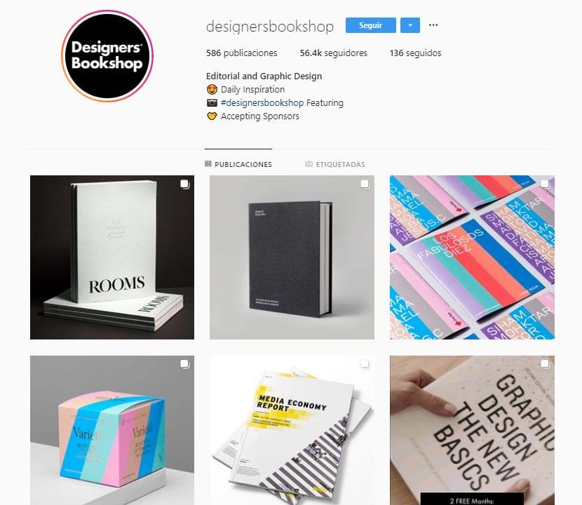 Perfil de instagram designersbookshop