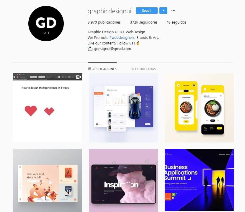 Perfil de instagram graphicdesignui