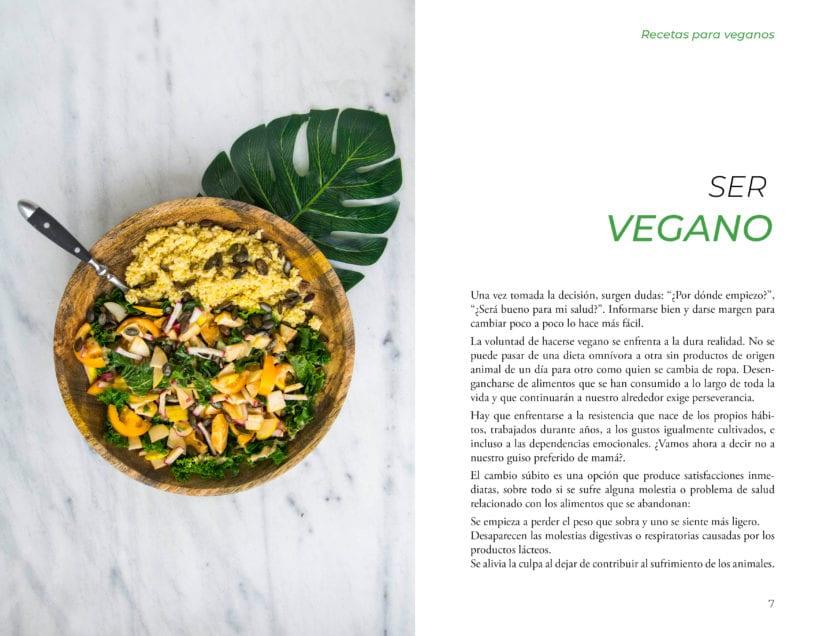 Maquetación de páginas libro recetas veganas