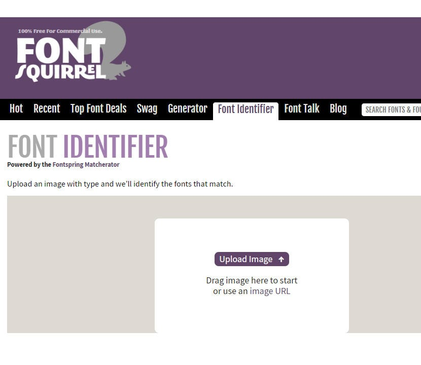 The FontSquirrel Matcherator subir imagen