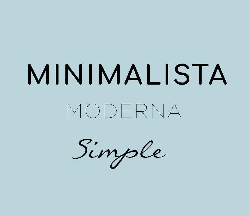 Combinación de tipografías minimalistas