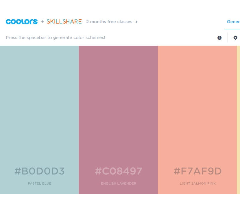 Coolors.co paleta de colores