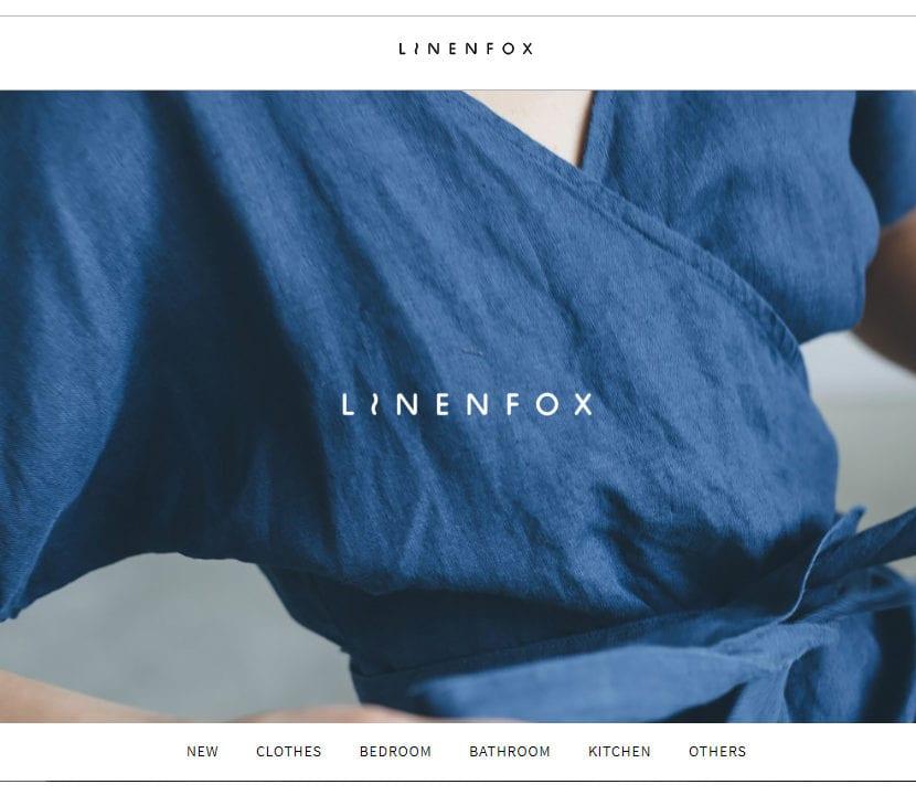 Website de la marca Linenfox