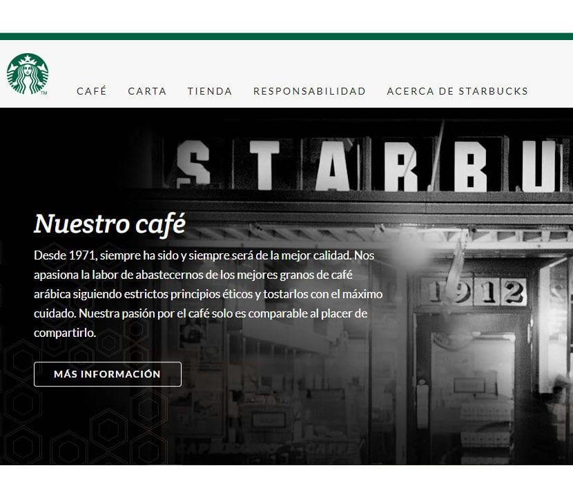 Página web starbucks