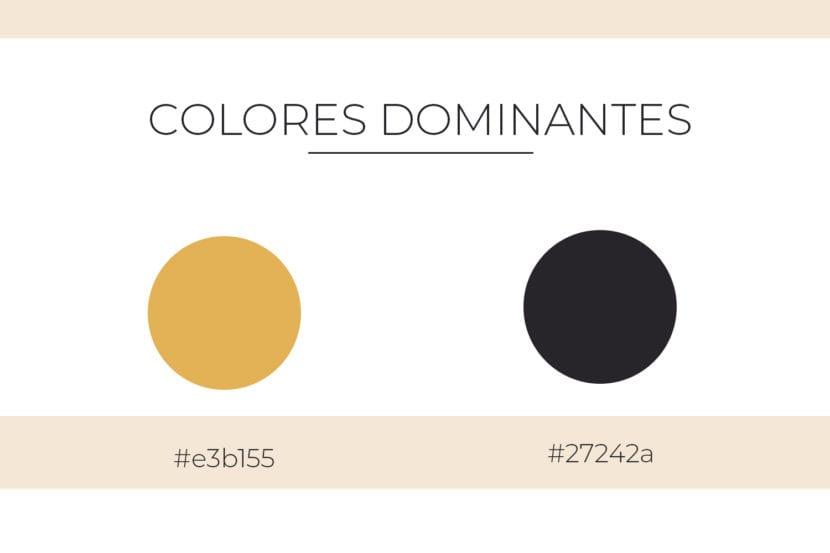 Colores dominantes en la paleta