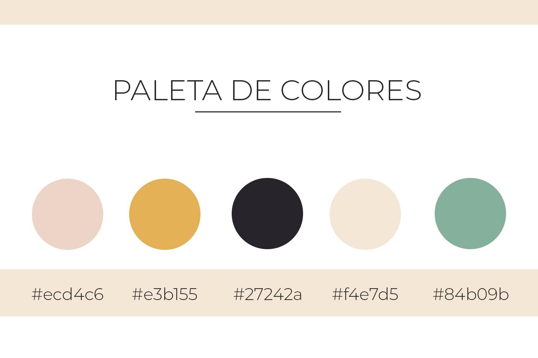 Paleta de colores para branding