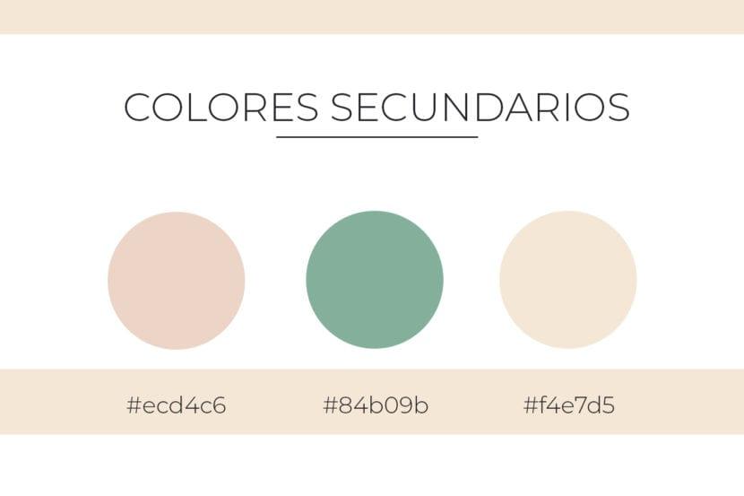 Colores secundarios para paleta de colores