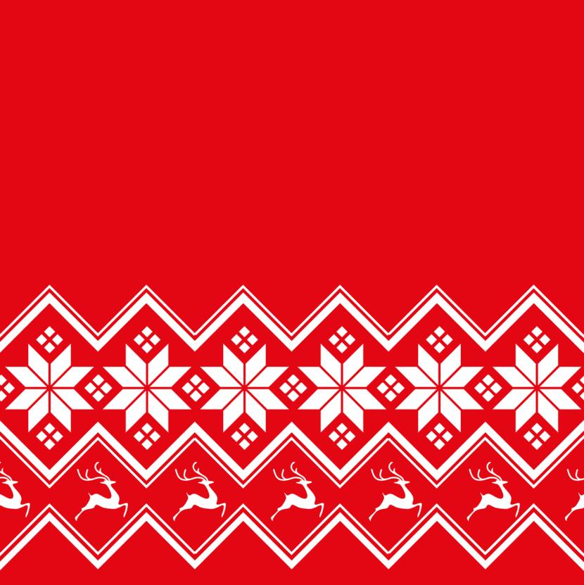 Patrón Escandinavo de Navidad