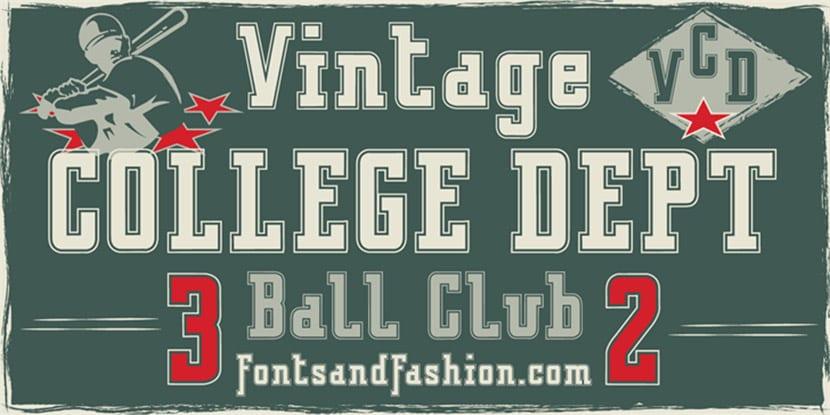 Vintage College Dept
