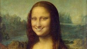 Mona Lisa sonriendo