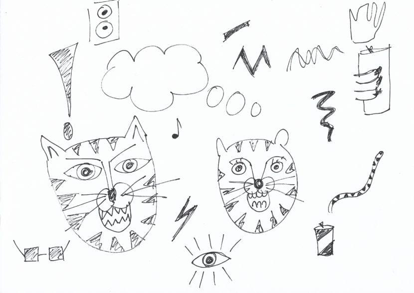 Bocetos escaneados