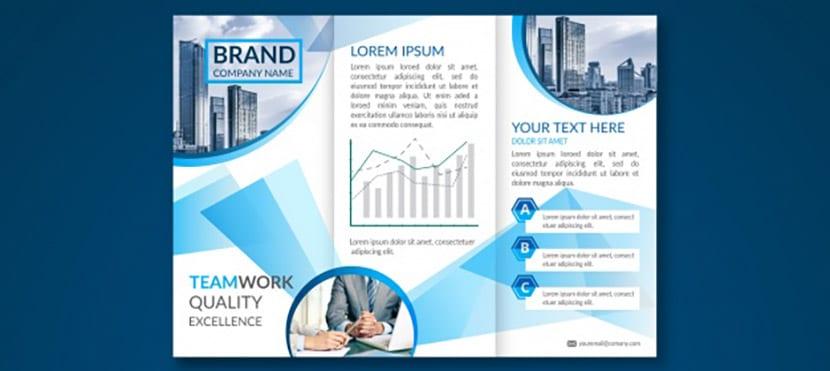Para negocios en abstracto - azul
