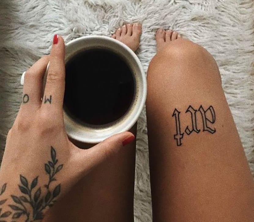 Letras tatuajes