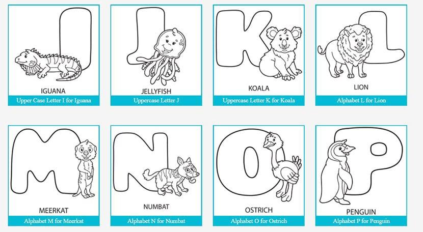 Más letras de animales