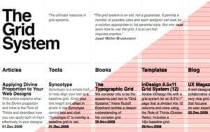 Sistema de retículas para diseño
