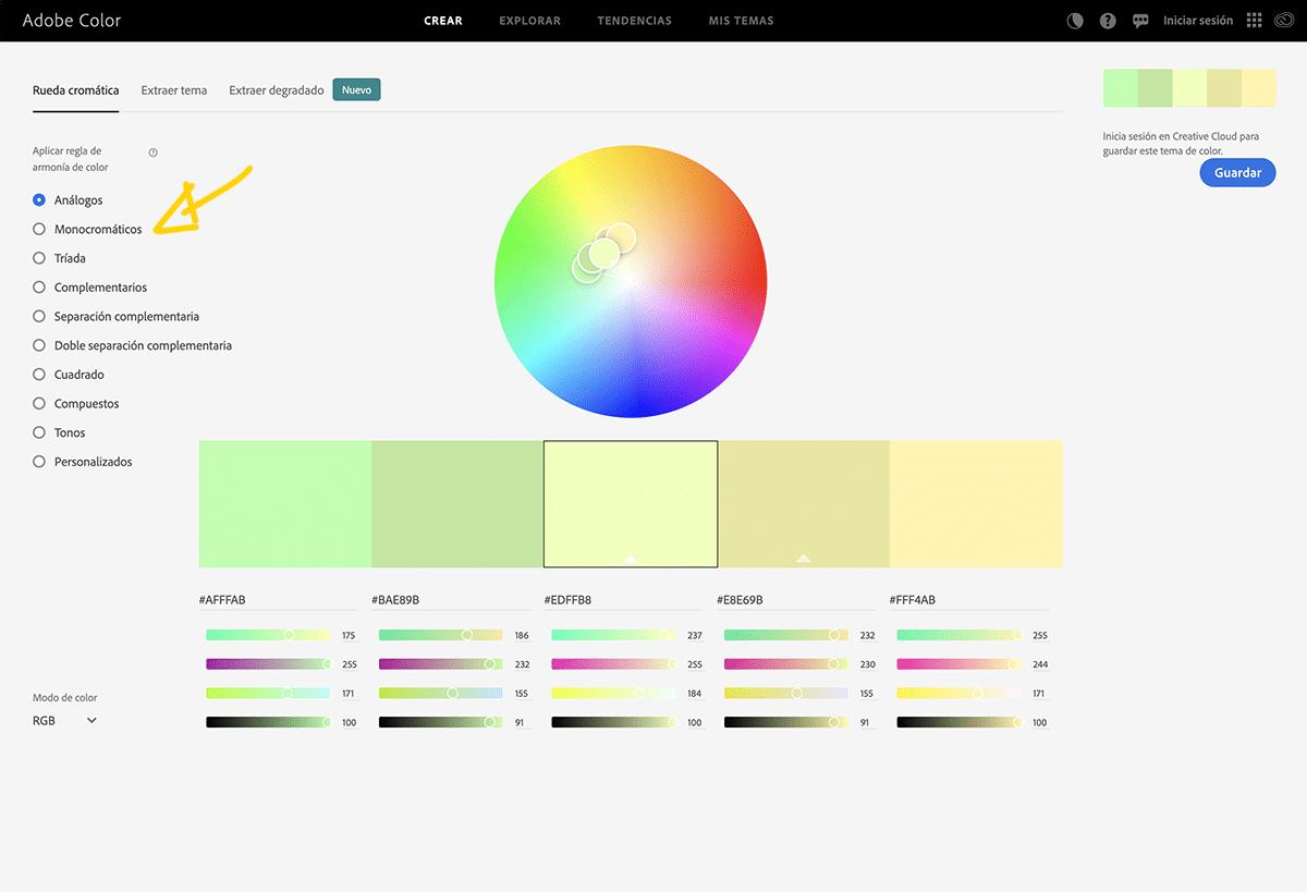Trabaja el color de forma profesional con adobe color