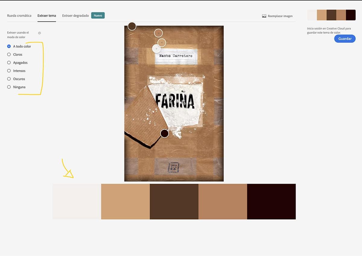 analiza los colores de una imagen con Adobe Color