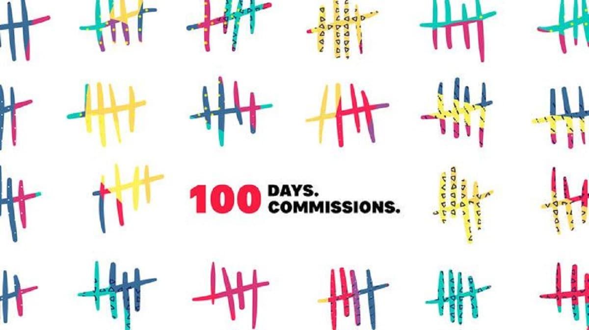 100 días comisiones