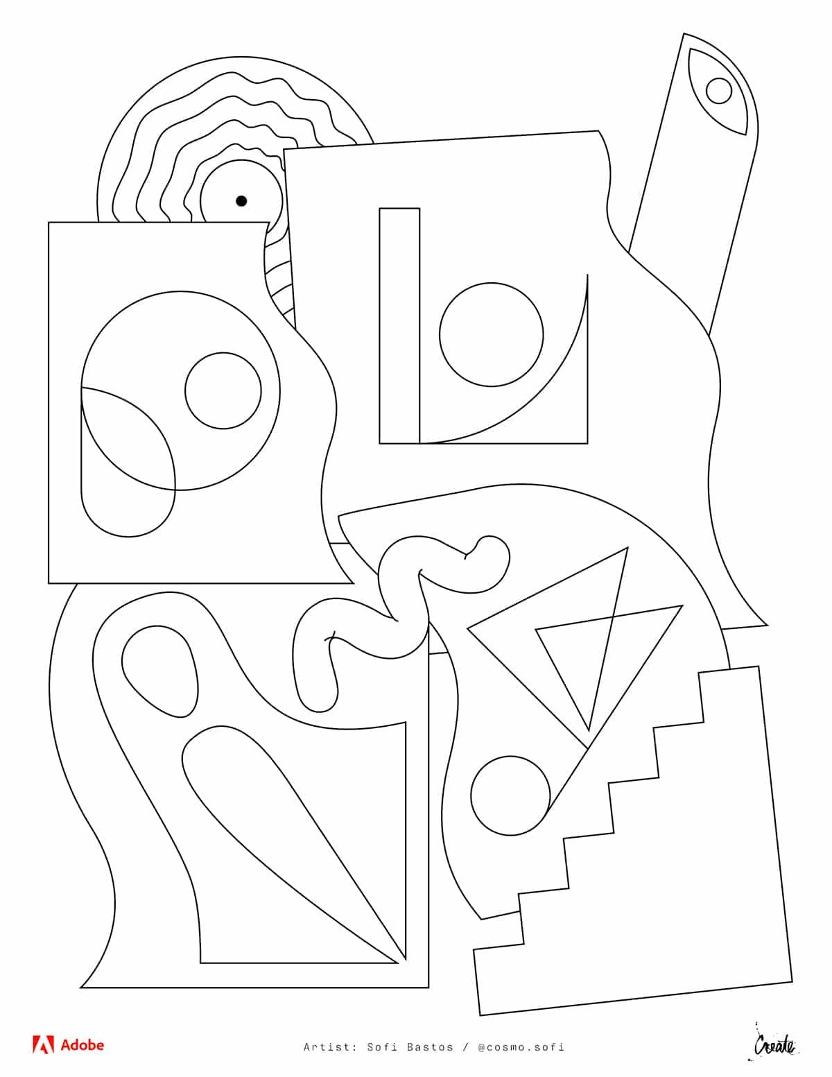 Dibujos para colorear de Adobe