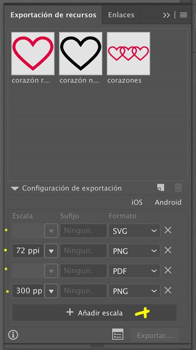 nombra los archivos antes de exportarlos en Illustrator