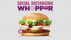 Whopper distanciamiento social