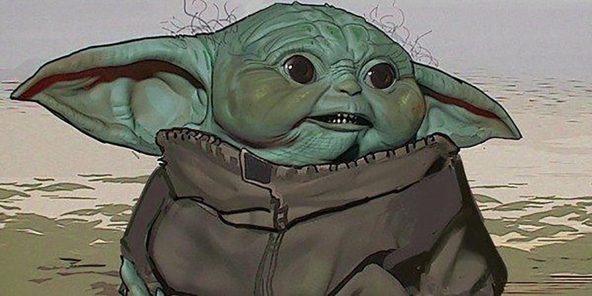 Concepto de Baby Yoda