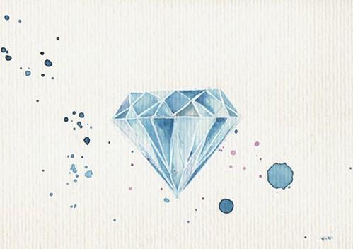 Diamante en acuarela