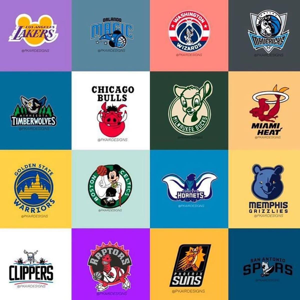 Logos equipos NBA y Disney