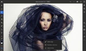 Photoshop en el iPad con seleccionar borde