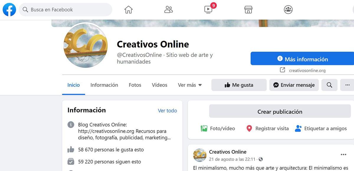 Creativos Online Facebook