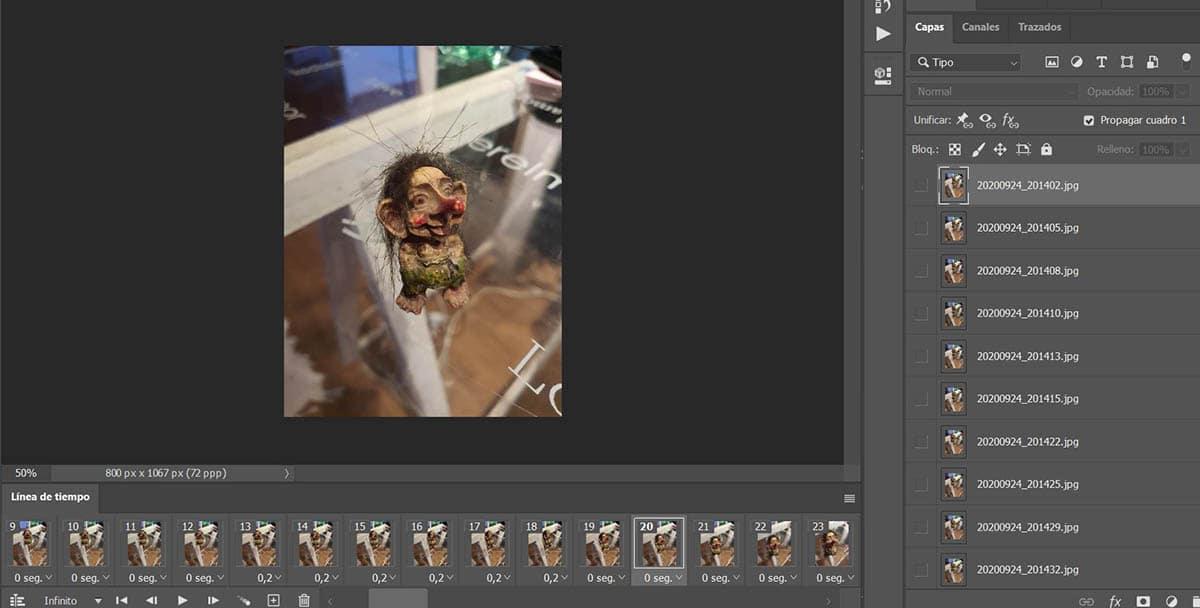 Guardar como GIF en Photoshop
