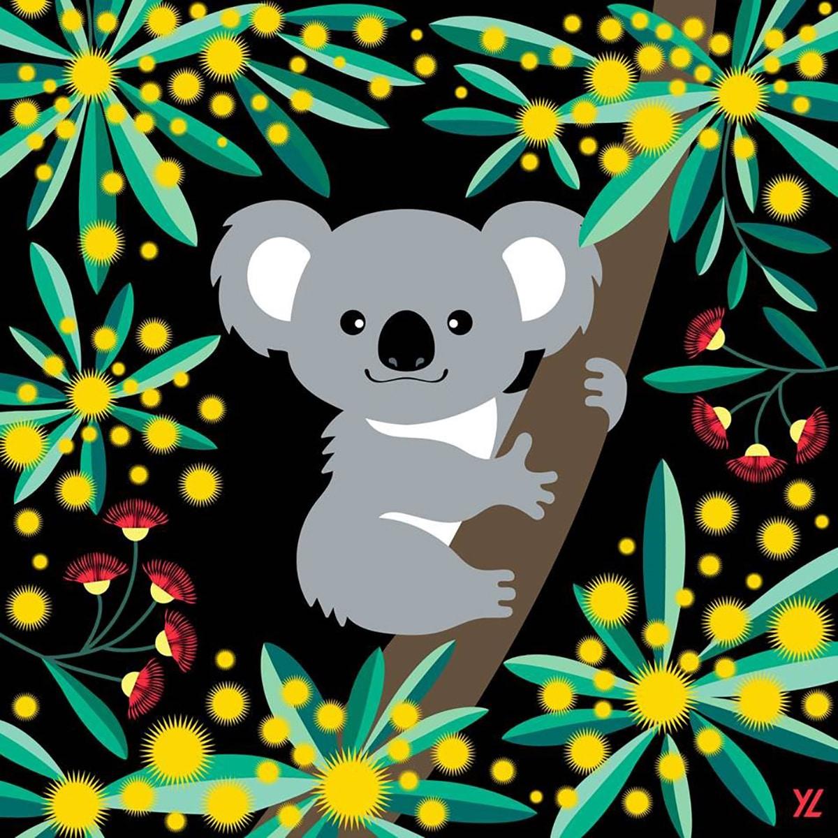 Koala en Adobe Illustrator en el iPad