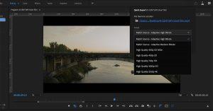 Adobe Premiere exportación rápida