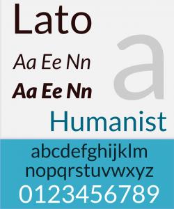 Tipografía moderna Lato