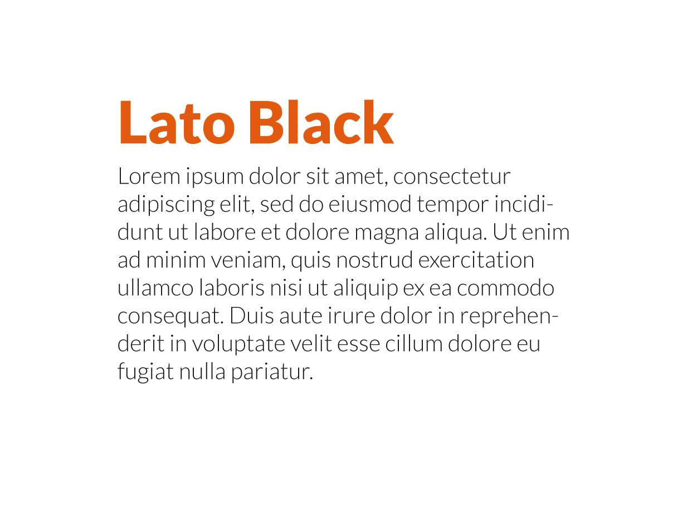 Combinación tipografías modernas Lato Black y Lato Light