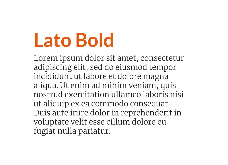 Combinación fuente moderna Lato Bold con Merriweather Ligth