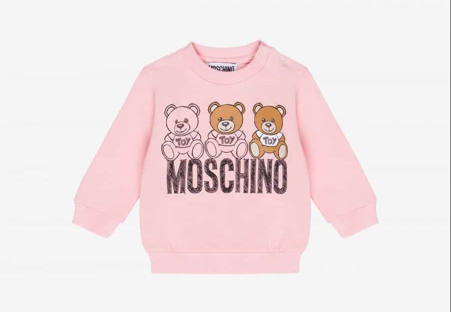 Sudadera de niños con el logotipo de Moschino y el símbolo Toy