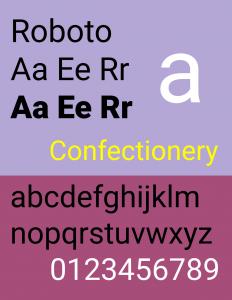 Fuente tipográfica moderna Roboto