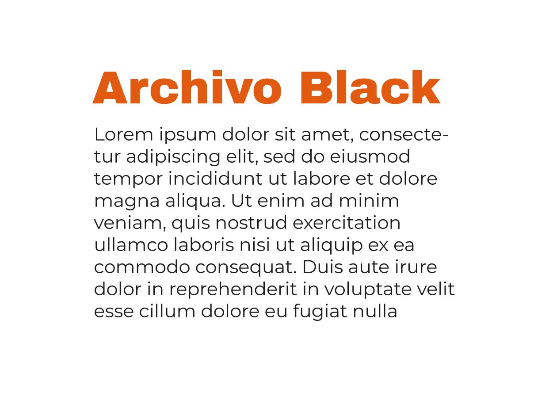 Combinación tipografía Moderna Archivo Black y Monserrat Regular