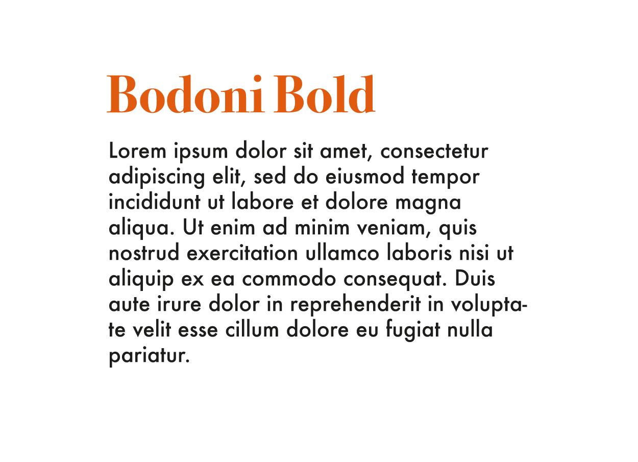 Tiografía Moderna Futura y Bodoni