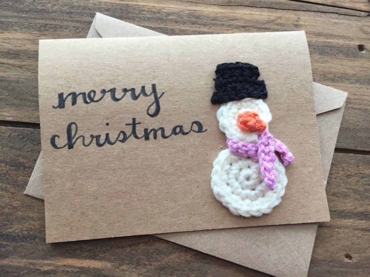 """Tarjetas navideñas personalizadas: unos muñecos de nieve muy """"algodonosos"""""""