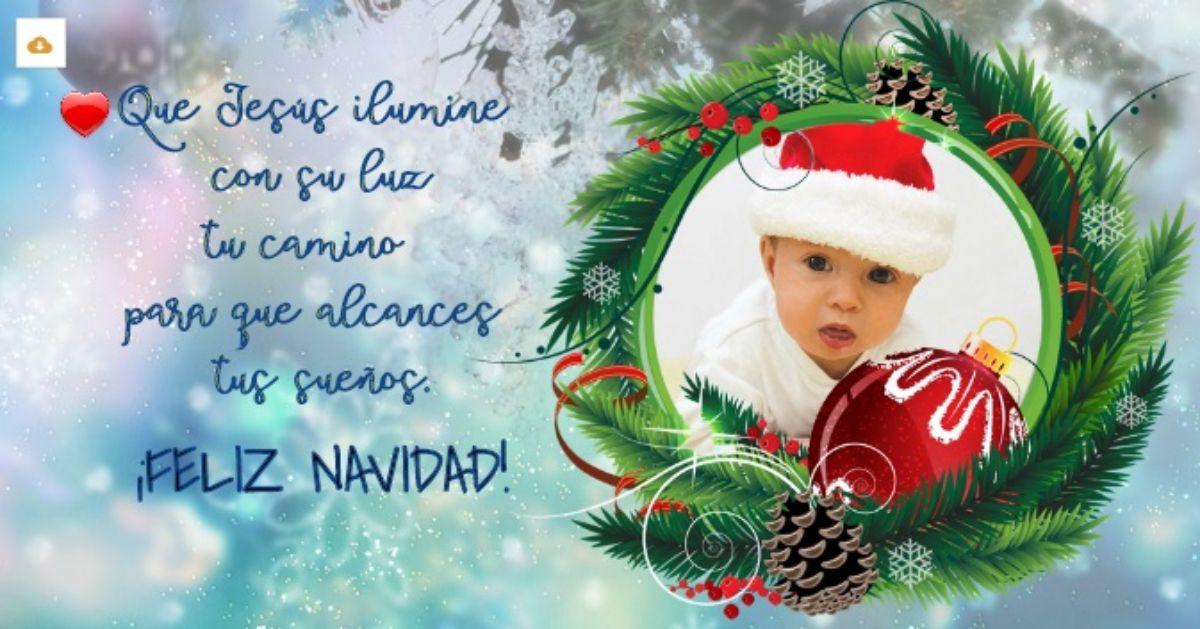 Tu propia tarjeta navideña con tu foto