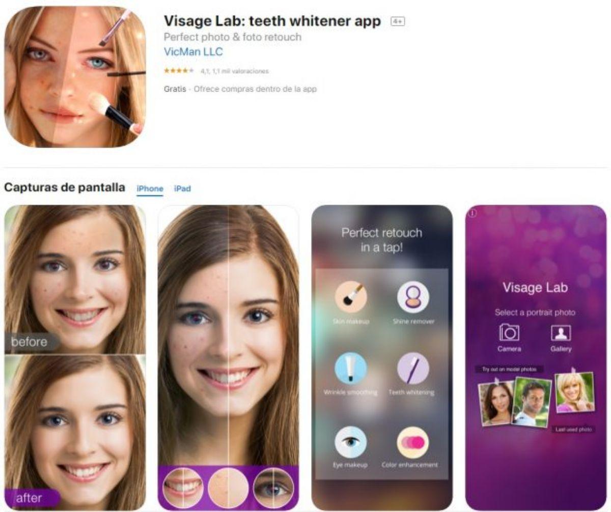 App para editar fotos: Visage