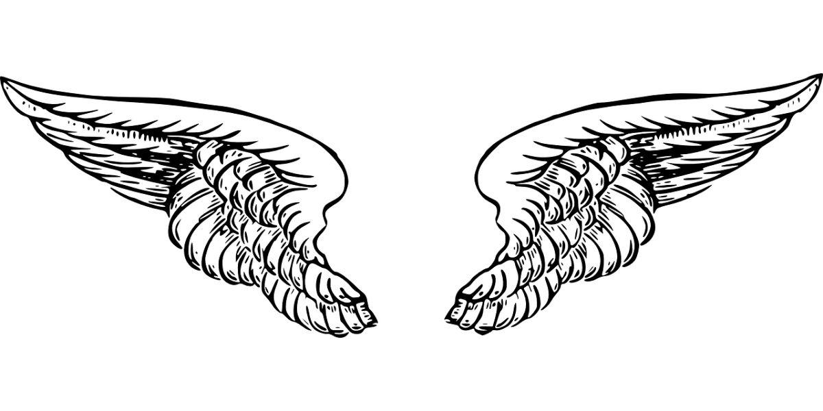 ¿Es sencillo dibujar unas alas de ángel?
