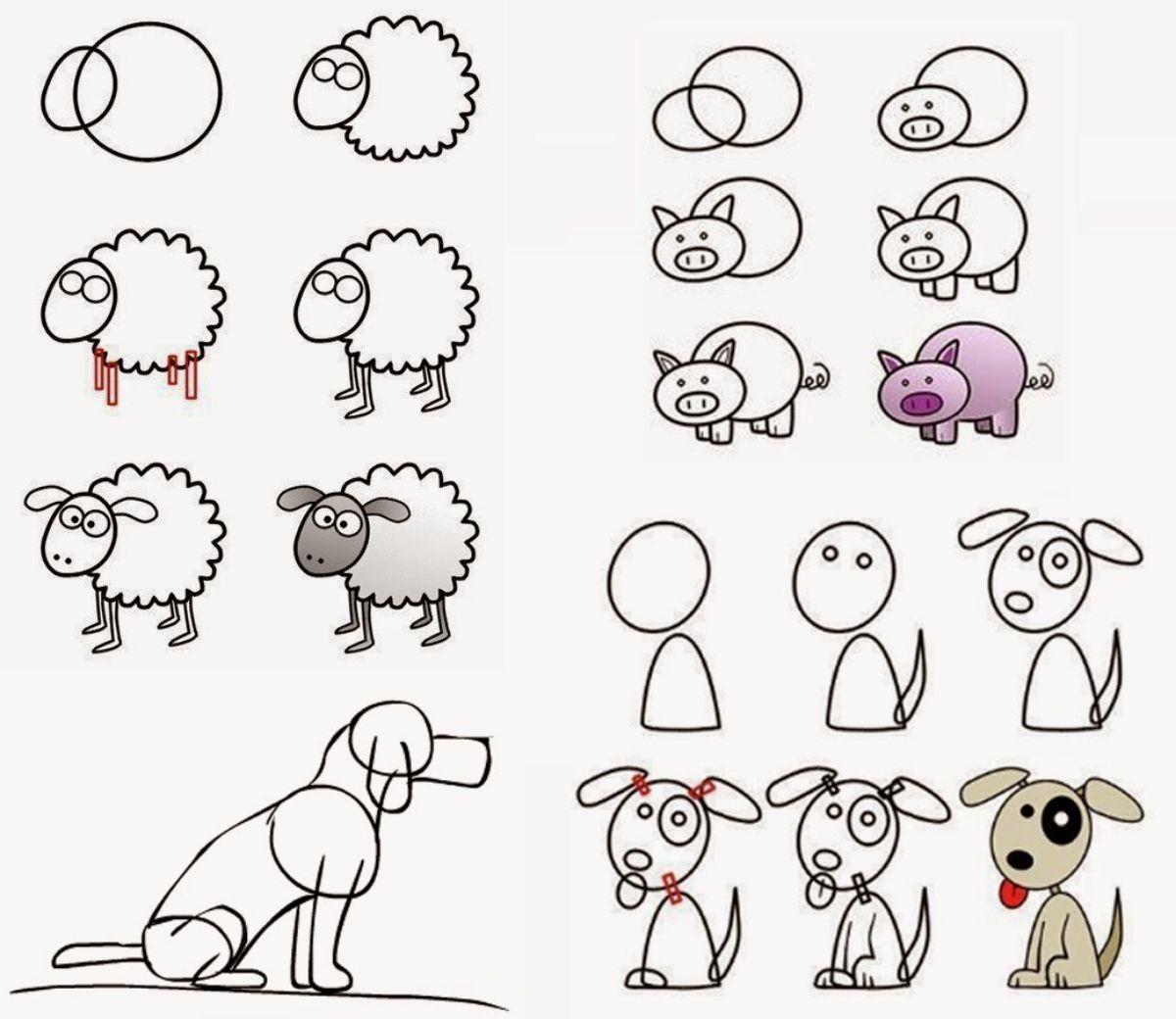Como dibujar animales: las caras